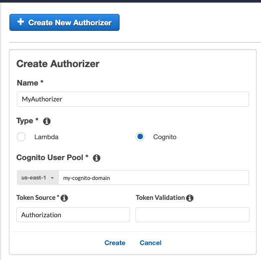 Authorization with API Gateway, Cognito and React