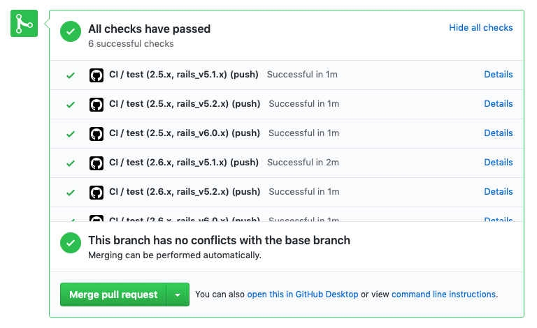 Final Minitest Spec Rails GitHub Actions Pull Request Feedback